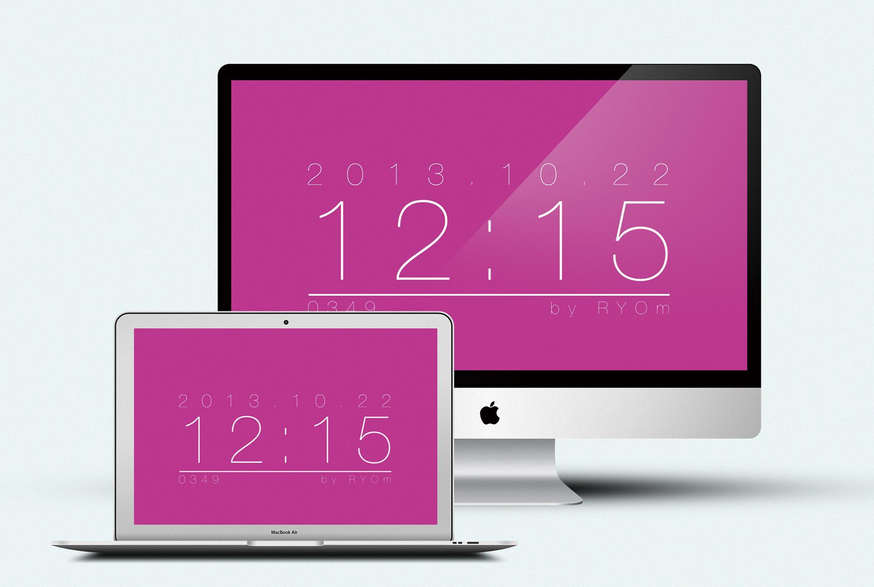 Simple Clock Screen saver for Mavericks