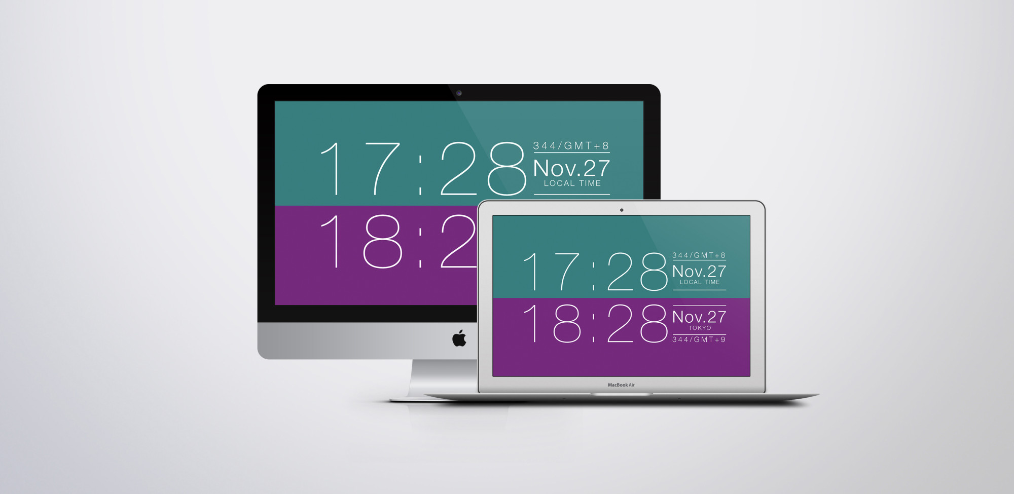 Simple world clock Screen saver for mac