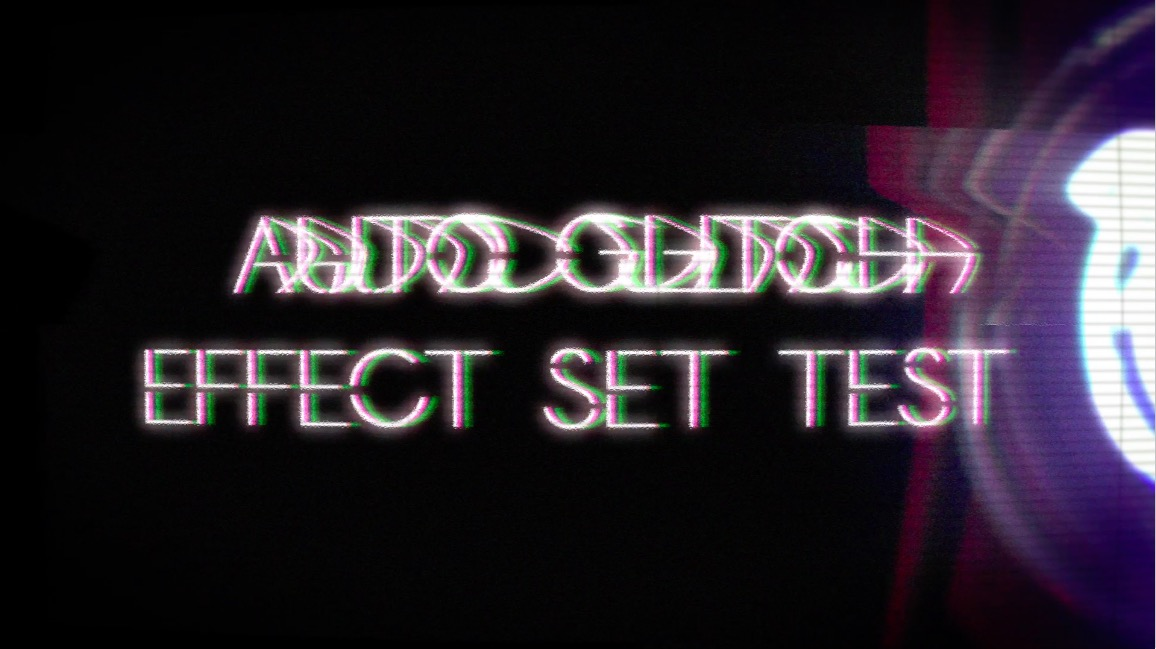 After effect/Auto Glitch effect set test