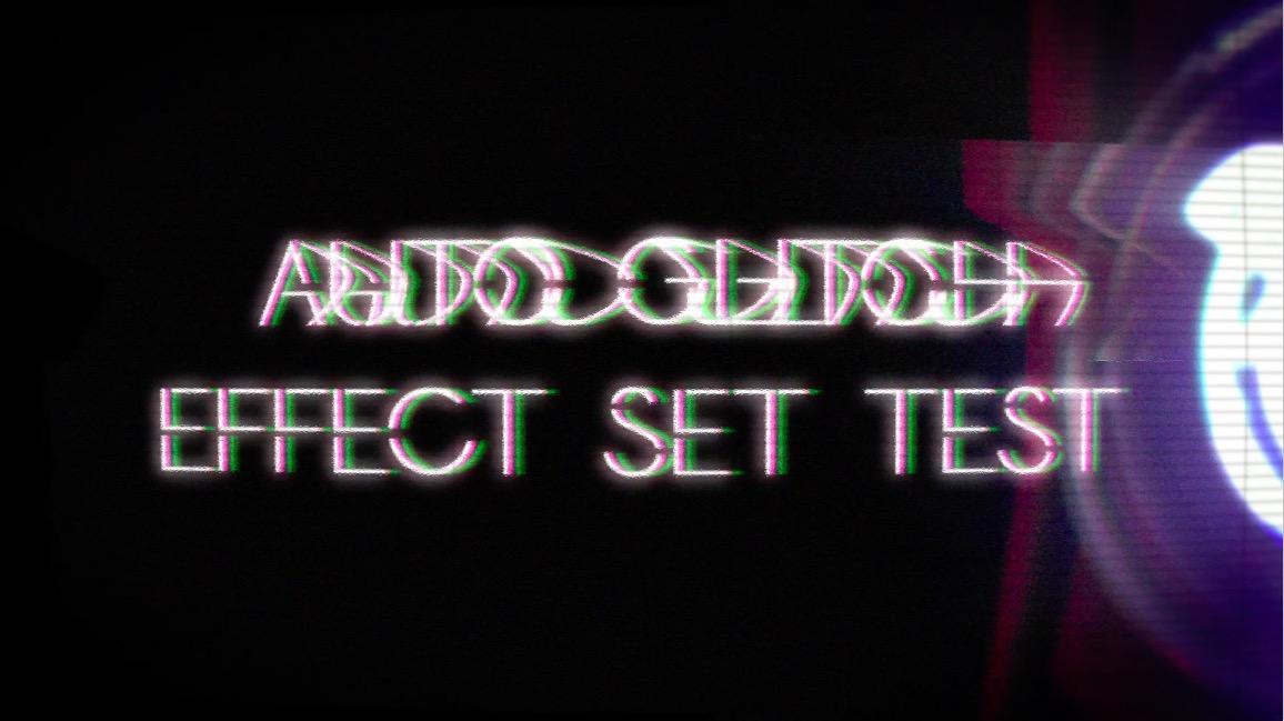 After effect/Auto Glitch effect set test